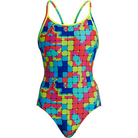 Funkita Diamond Back One Piece Badeanzug Damen heat map
